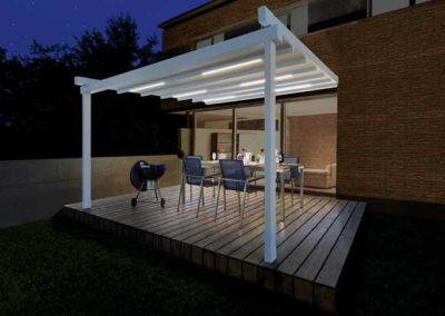 Pergola Sunrain mit LED-Beleuchtung