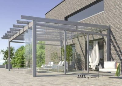 Area Classic Terrassenüberdachung aus Glas von Leiner