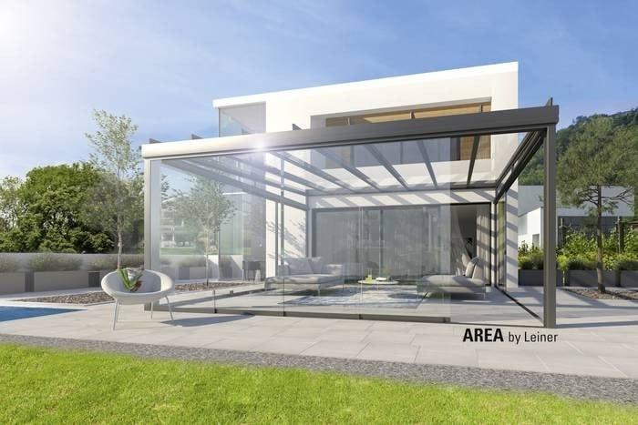 Area Exklusiv Terrassenüberdachung aus Glas von Leiner